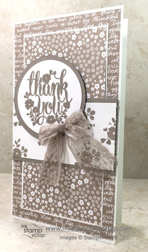 Mojo Monday Monochromatic DIY Thank You Card