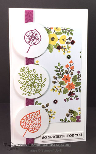 stampin up punches, lighthearted leaves, linda bartolucci, ink stamp and scrap
