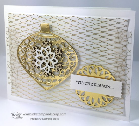 Delicate Ornaments DIY Christmas Card