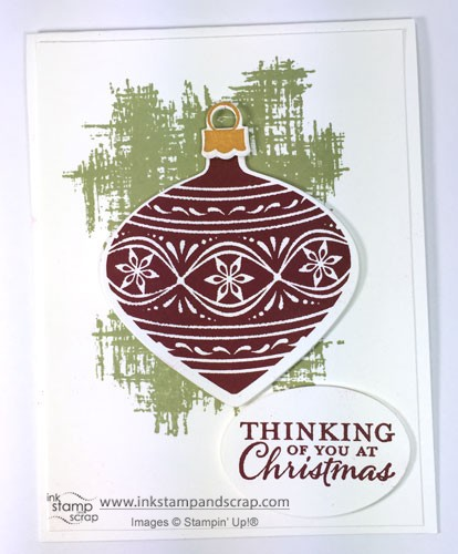 Embellished Ornaments DIY Christmas Card