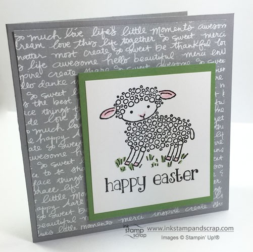 Easter Lamb Quick and Easy Greeting Card