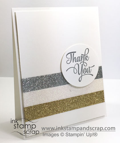 Quick and Easy Thank You Card Using Metallics Glitter Tape