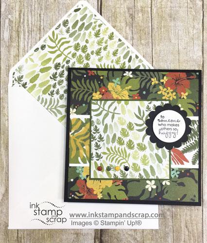 botanical blooms, envelope punch board