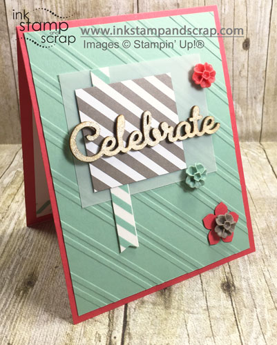 By Linda Bartolucci for Mojo Monday (MOJO443); Wink of Stella Clear, Expressions Natural Elements, Blossoms In Color Accents. For more details click through to my blog! #stmapinup #inkstampandscrap #birthday