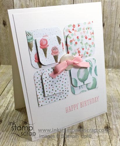 Birthday Bouquet Clean and Simple DIY Birthday Card