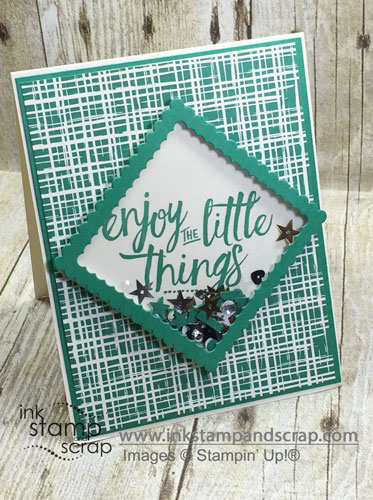 Shaker Greeting Card Quick and Easy with New Stampin