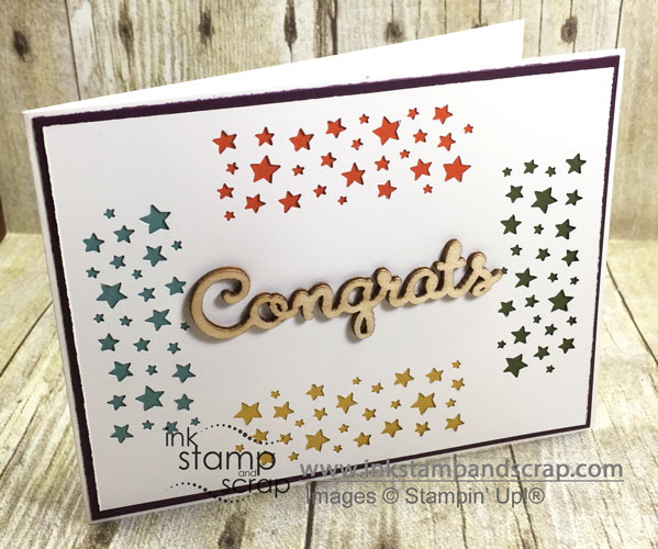 Retiring In Colors DIY Greeting Card with Confetti Stars Punch