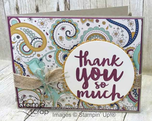 Fall Thank You with Stampin' Up! Petals & Paisley