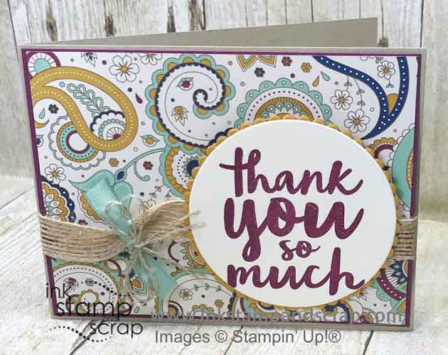 Fall Thank You with Stampin