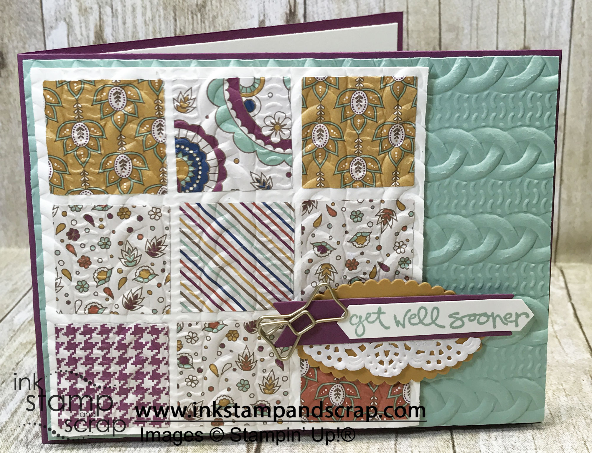 Cable Knit Sweater Folder from Stampin