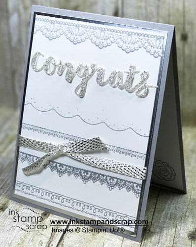 Delicate Details and Metallic Ribbon Card Ideas