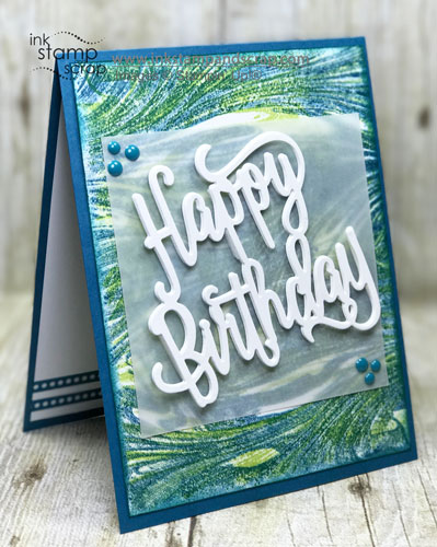 Marbled Background Guy Birthday Card