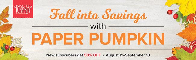 Get Your 50% Discount on Paper Pumpkin