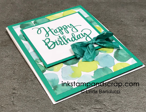 Quick and Easy Birthday Card with Retiring Products