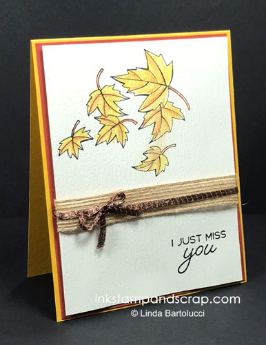 quick fall leaves handmade card