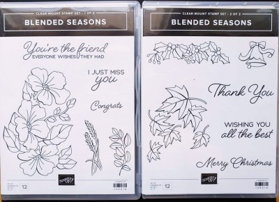 blended season quick and easy christmas card