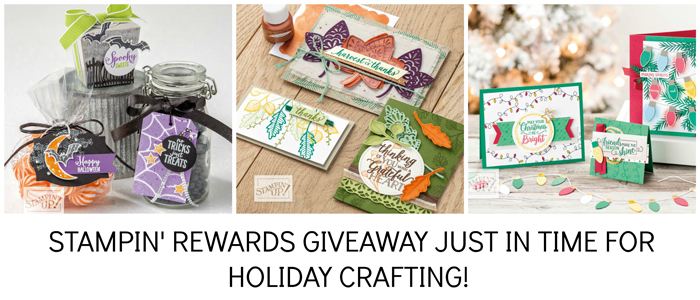 stampin rewards giveaway just in time for holiday crafting
