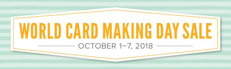 world card making day stampin up sale