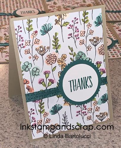 cascade of customer thank you cards