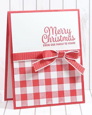 Quick, Easy Buffalo Check Christmas Card