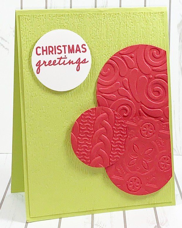 stamp a stack embossed circles