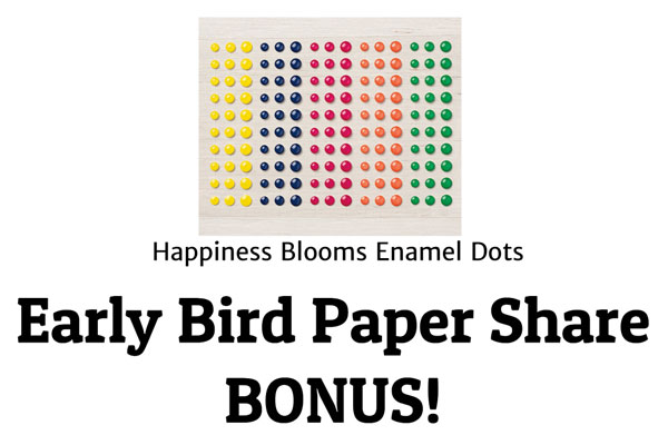 2019 Occasions Paper Share Early Bird Special