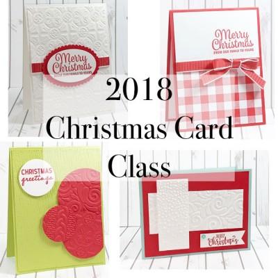 2018 christmas card class