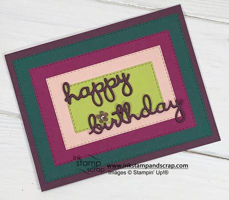 I Love Rectangle Stitched Framelits