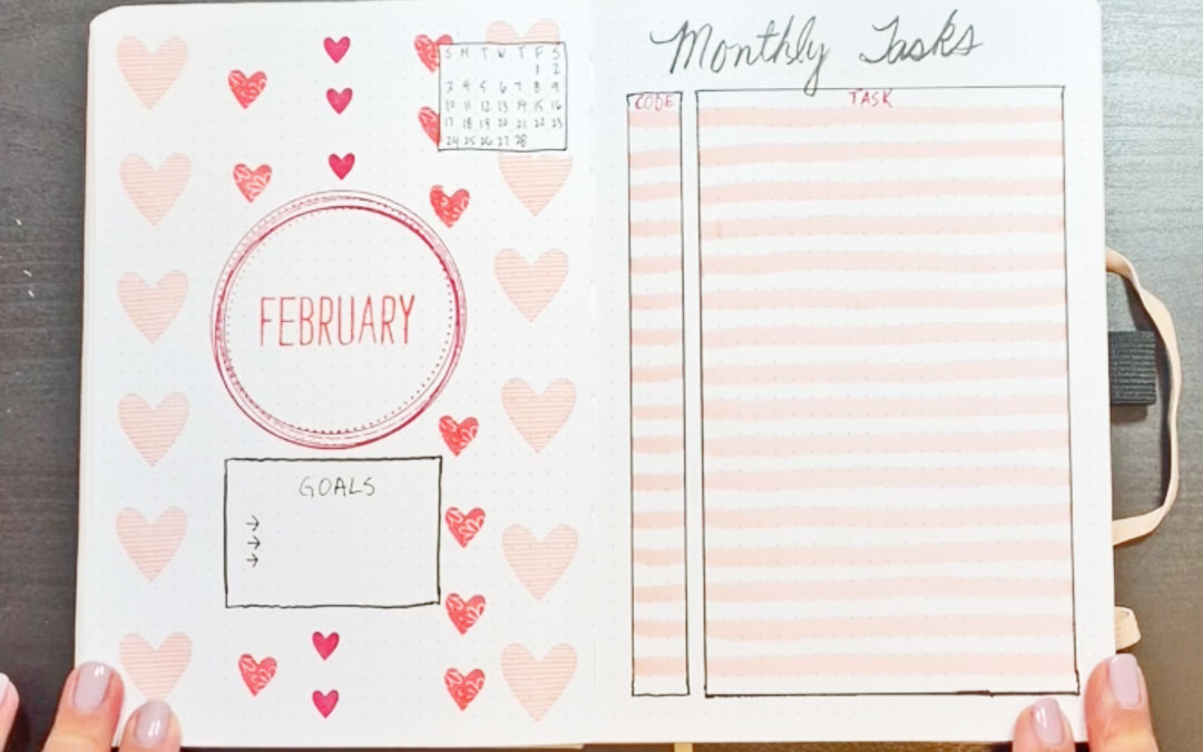 Bullet Journal Plan with Me February 2019 Setup