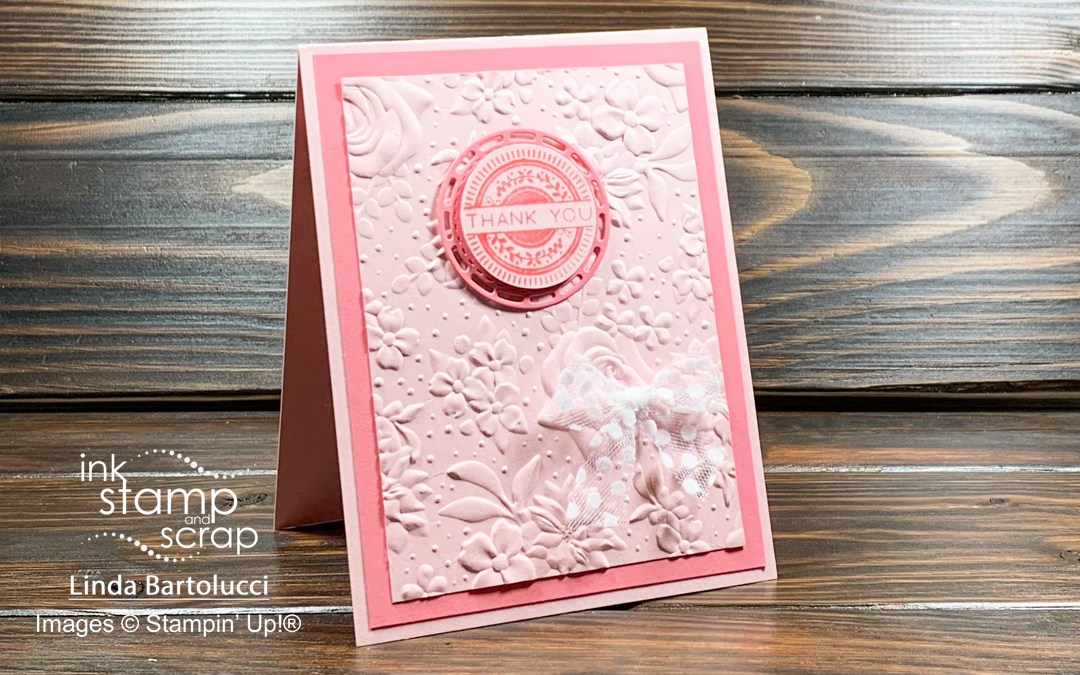 Quick Textured Thank You Card