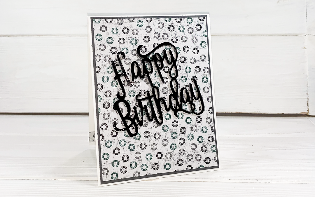 Stacked Greeting Simple Handmade Birthday Card
