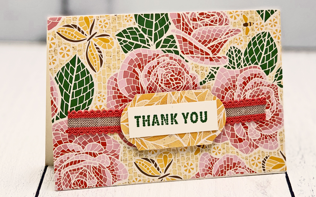 Friday Demo Rewind: Note Card with Paper