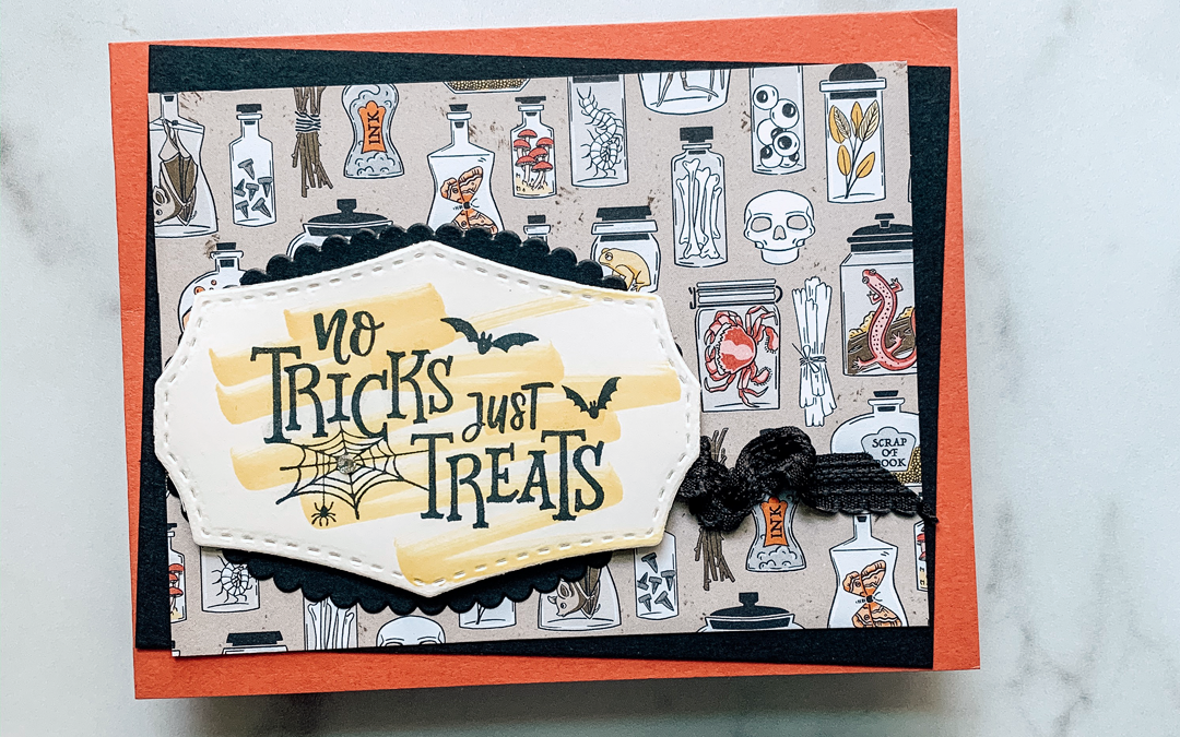 Tilted Layers Quick Halloween Card