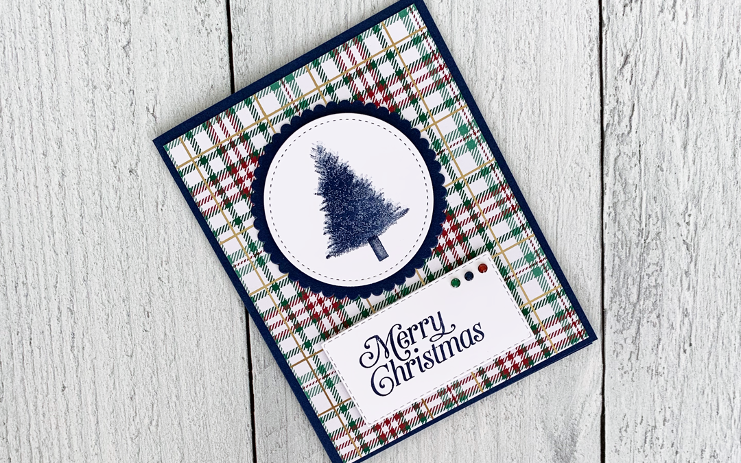 Perfectly Plaid Clean and Simple Christmas Card