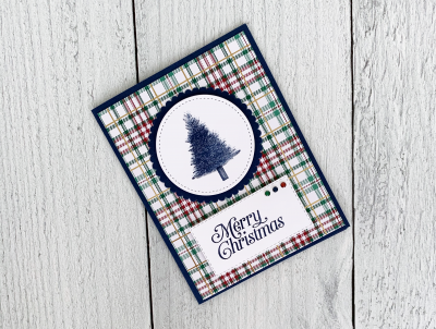 perfectly plaid quick christmas card