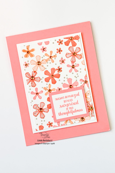 quick and easy flower greeting card