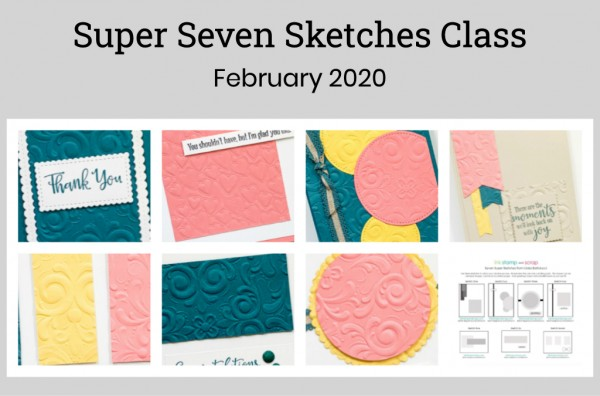 super seven sketches textured embossing