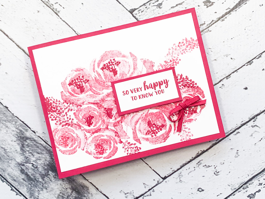 Make a Quick and Easy Card with One Color