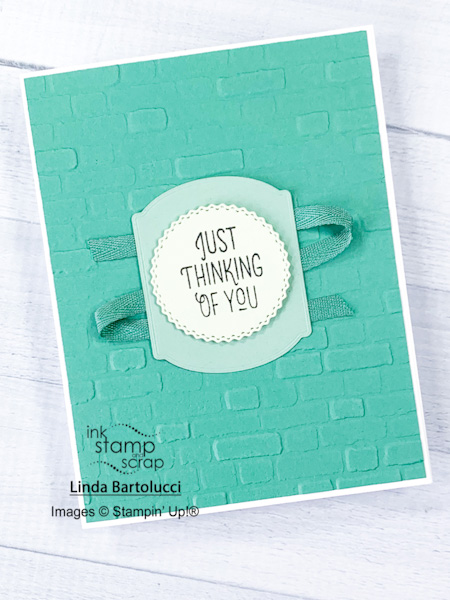 stamp with me brick wall card