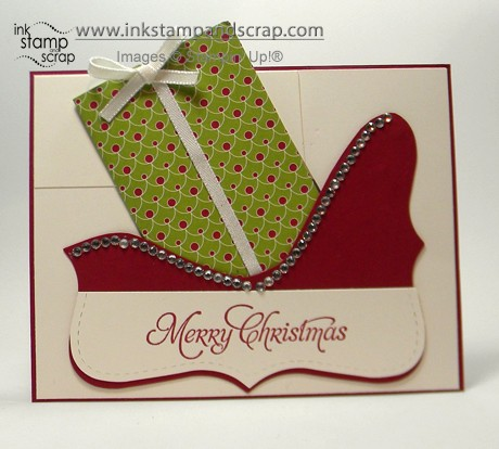 gift card holder top note sleigh