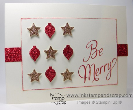 stampin up holiday catalog merry mini punches glitter paper