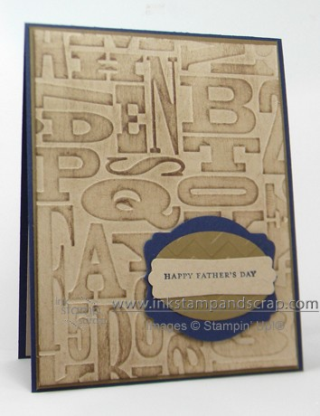alphabet textured folder masculine card